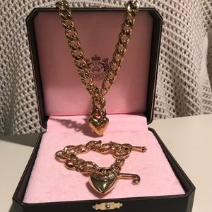 Juicy Couture Gold Bracelet and Necklace Set